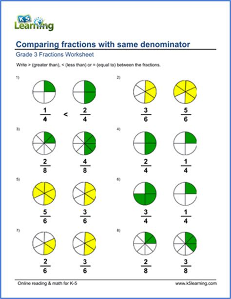 In Which Order Would These Fractions Go- LEAST TO GREATEST